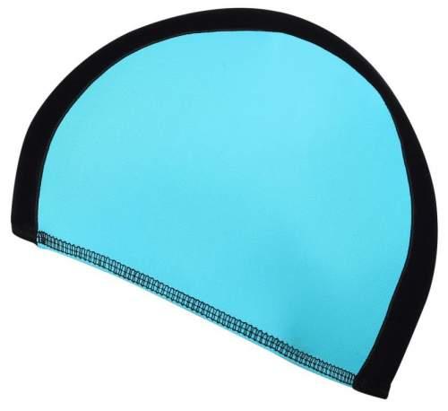 Шапочка для плавания ткань LUCRA SM комбинированная SM-089 Черно-голубой