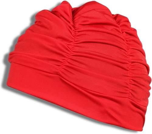 Шапочка для плавания ткань LUCRA SM женская с драпировкой SM-092 Красный