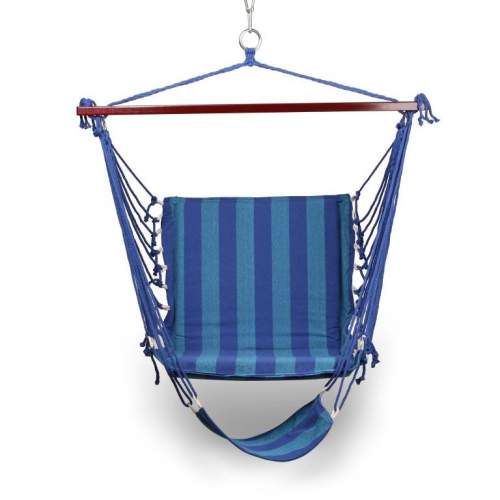 Гамак-Кресло INDIGO тканевый с подножкой IN185 100*60см Темно-синий-голубой