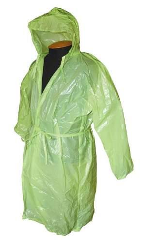Водоотталкивающий Плащ дождевик (полиэтилен) SM-012 Синий