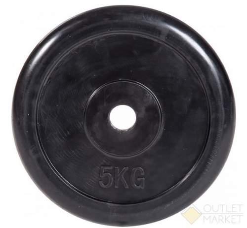 Диск обрезиненный 26 мм INDIGO IN122 5 кг Черный