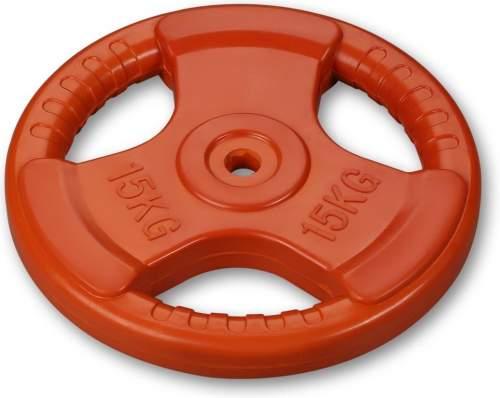Диск обрезиненный 26 мм INDIGO с хватом IN136 15 кг Оранжевый