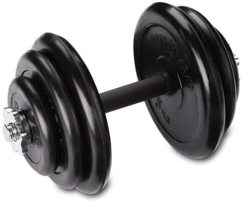 Гантель наборная обрезиненные диски INDIGO IN141 14 кг Черный