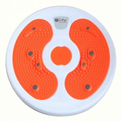 Диск Фигура массажный с магнитами INDIGO 97323 IR 27.5 см Бело-оранжевый