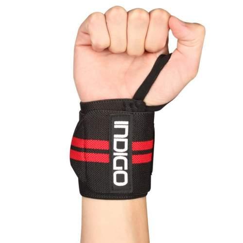 Напульсник для тяжёлой атлетики правый IN202 Черно-красный
