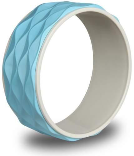 Колесо для йоги рифленое INDIGO 17103 IRBL 34 см Голубой