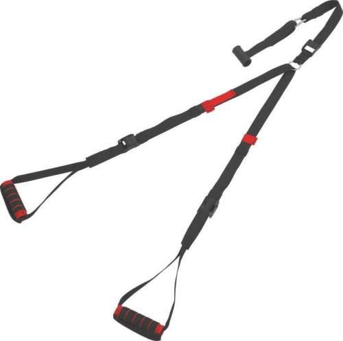 Эспандер многофункциональный в дверной проем PRO SUPRA 2 стропы 109 E Черно-серый