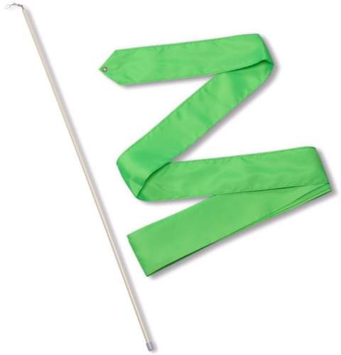 Лента гимнастическая с палочкой 56 см СЕ6 6,0 м Зеленый