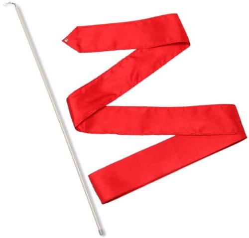 Лента гимнастическая с палочкой 56 см СЕ6 6,0 м Красный
