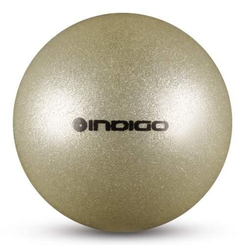 Мяч для художественной гимнастики INDIGO металлик 300 г IN119 15 см Серебро с блестками
