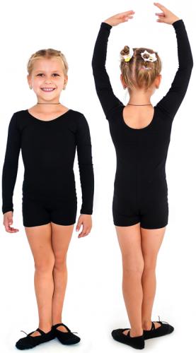Комбинезон гимнастический длинный рукав INDIGO х/б SM-193 26 Черный