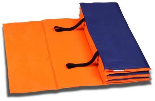 Коврик гимнастический взрослый INDIGO SM-042 180*60 см Оранжево-синий