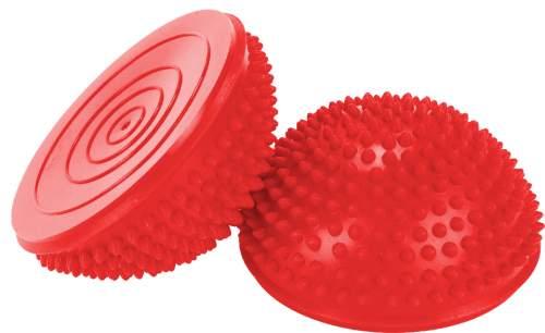 Полусфера массажная балансировочная (2шт) 97437 R 16*8 см Красный