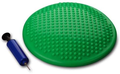 Диск массажный балансировочный INDIGO Равновесие SLIM с насосом 1BC 33-1 33 см Зеленый