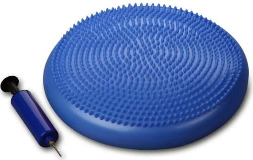 Диск массажный балансировочный INDIGO Равновесие с насосом 1BC 33-2 33 см Синий