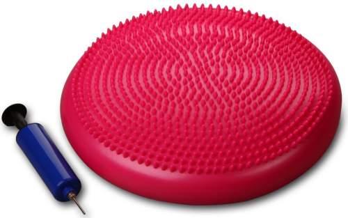 Диск массажный балансировочный INDIGO Равновесие с насосом 1BC 33-2 33 см Розовый