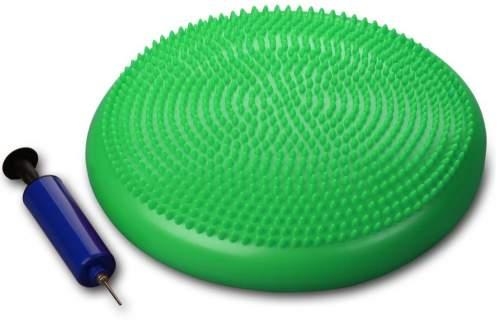 Диск массажный балансировочный INDIGO Равновесие с насосом 1BC 33-2 33 см Зеленый