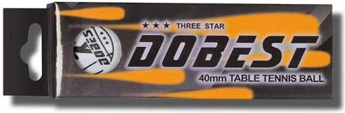 Шарики для настольного тенниса DOBEST 3 звезды 3шт 01-BA 40 мм Белый