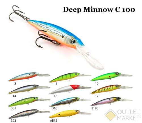 Воблер Raiden Deep Minnow C 100 15 гр.