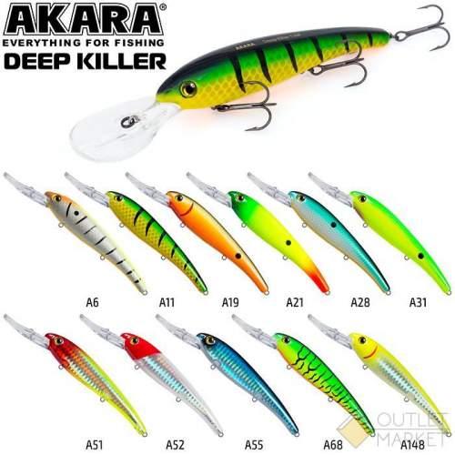 Воблер Akara Deep Killer 120F 20 гр. (5/7 oz 4,7 in)
