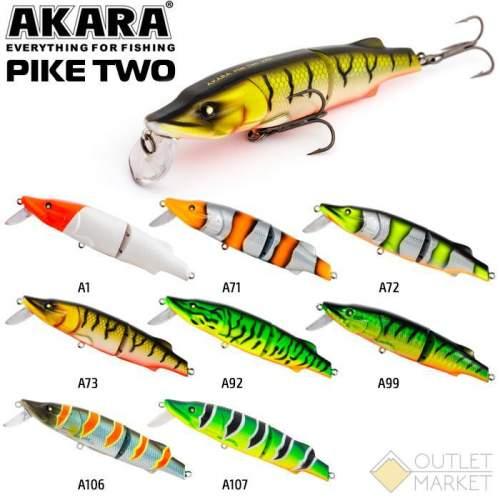 Воблер Akara Pike Two 100F 17 гр. (3/5 oz 3,9 in)