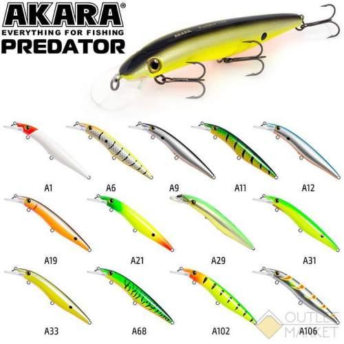 Воблер Akara Predator 85F 8 гр. (2/7 oz 3,4 in)