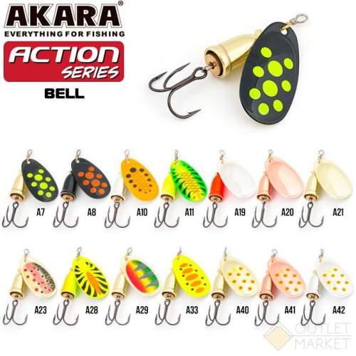 Блесна вращающаяся Akara Action Series Bell 3 8 гр