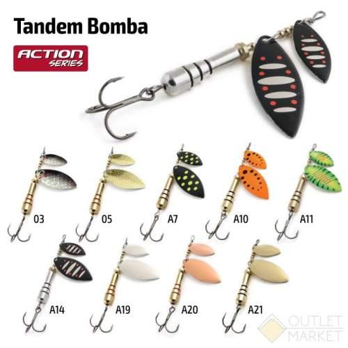 Блесна вращающаяся Akara Action Series Tandem Bomba 2/4 21 гр
