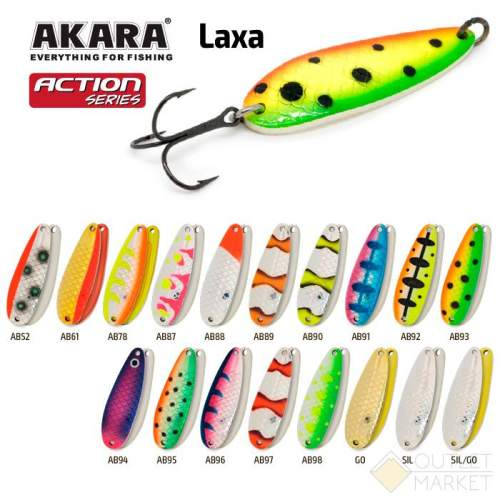 Блесна колеблющаяся Akara Action Series Laxa 70 21 гр