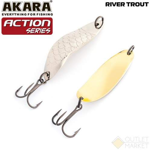 Блесна колеблющаяся Akara Action Series River Trout 60 18 гр