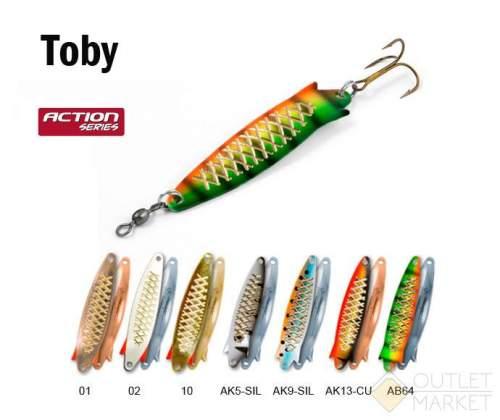 Блесна колеблющаяся Akara Action Series Toby 75 12гр
