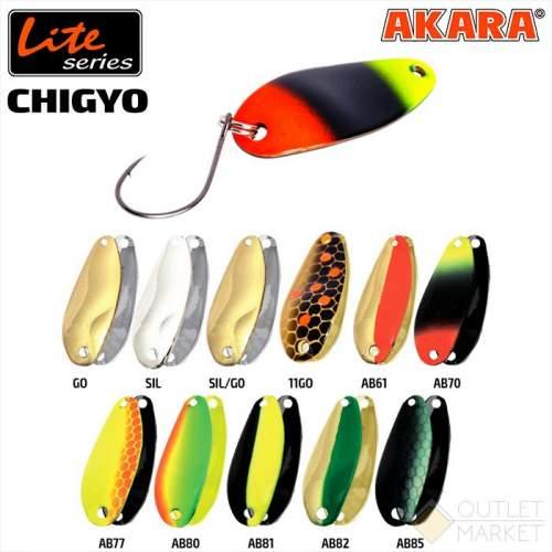Блесна колеблющаяся Akara Lite Series Chigyo 27 2 гр
