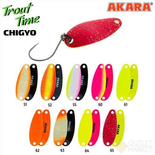 Блесна колеблющаяся Akara Trout Time Chigyo 27 2 гр