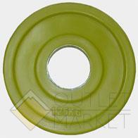 """Олимпийский диск евро-классик серия """"Ромашка"""" 1.25 кг обрезиненный желтый d51мм"""