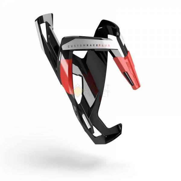 Флягодержатель Elite Custom Race Plus fiberglass черный красный рисунок