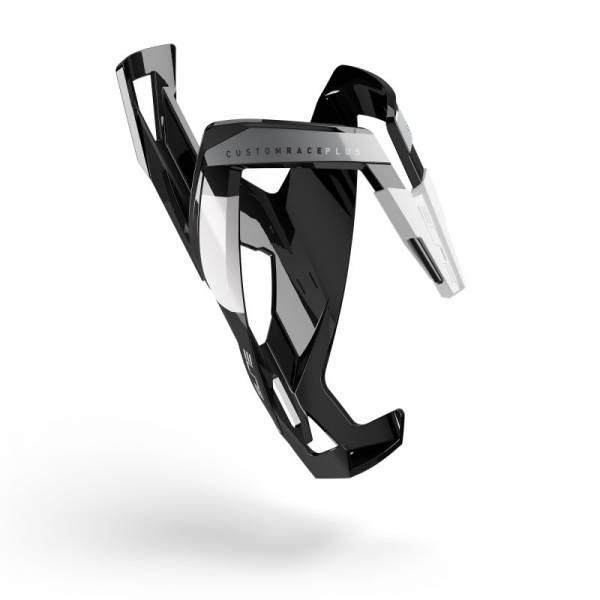 Флягодержатель Elite Custom Race Plus fiberglass черный белый рисунок