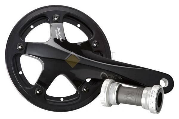 Система Shimano Alfine S501 170мм Интегрированный вал 45T с кареткой защита одинарная черная
