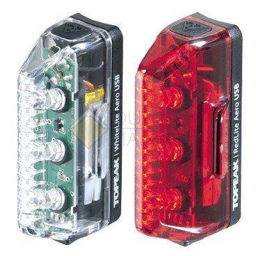 Комплект габаритных фонарей TOPEAK Aero USB Combo с зарядкой