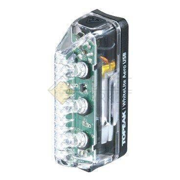 Передний габаритный фонарь TOPEAK WhiteLite Aero USB на ногу вилки с зарядкой