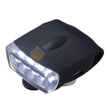 Переднее фонарь TOPEAK WhiteLite DX USB Safety Light, чёрный, белый свет