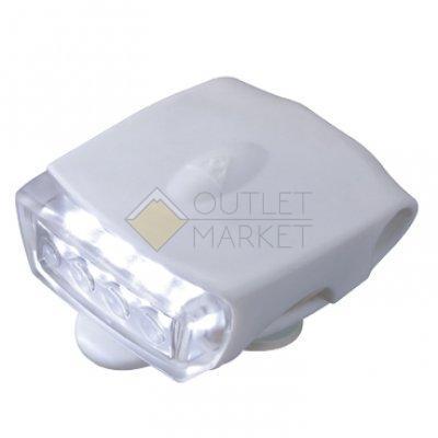 Передний фонарь TOPEAK WhiteLite DX USB Safety Light, белый, белый свет TMS040W