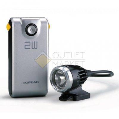 Фонарь передний TOPEAK WhiteLite HP 2W , 2Watt свет light w/3.7V 4400mAh rechargeable Lithium Ion pow