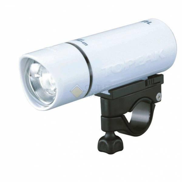 Фонарь передний TOPEAK WhiteLite HP 1W-AA, светодиод 1 ватт,  батареи типа АА (3 шт), белый корпус