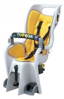 Детское кресло с багажником TOPEAK Baby Seat II под колесо 26 с дисковым тормозом цвет кресла жёлтый