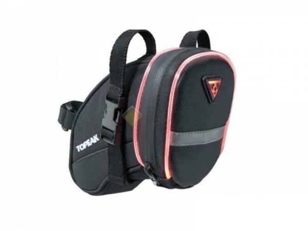 Подседельная сумка TOPEAK AeroWedge iGlow со светящейся окантовкой 0.5W с креплением малый размер