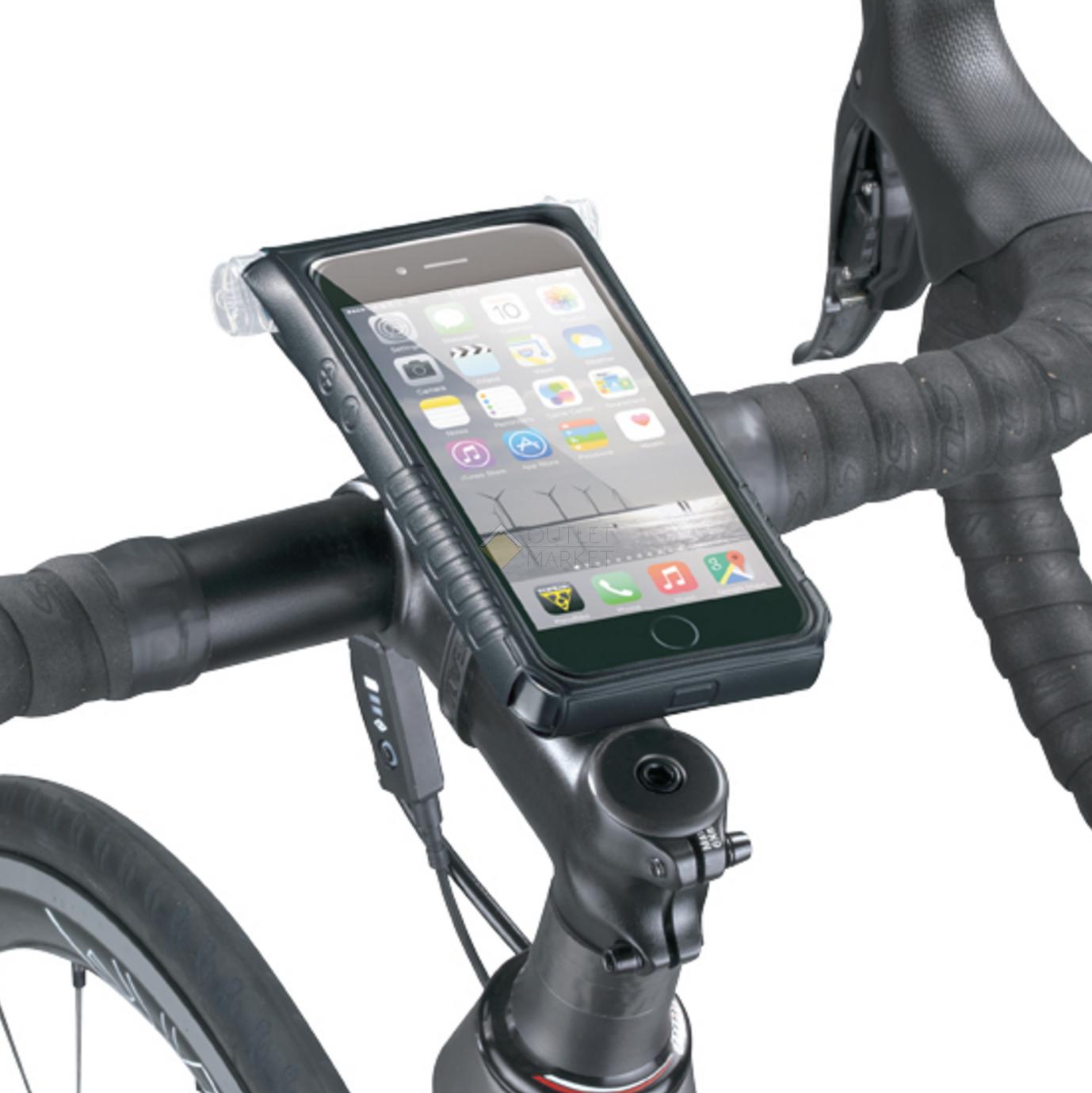 Водонепронецаемый чехол TOPEAK SmartPhone DryBag for iPhone 6 с креплением на руль черный TT9841B