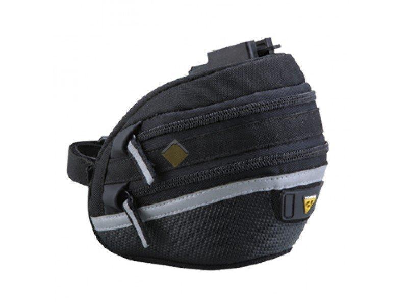 Подсёдельная сумка TOPEAK Wedge Pack II w Fixer F25 w rain cover с креплением c чехлом средняя TC2272B
