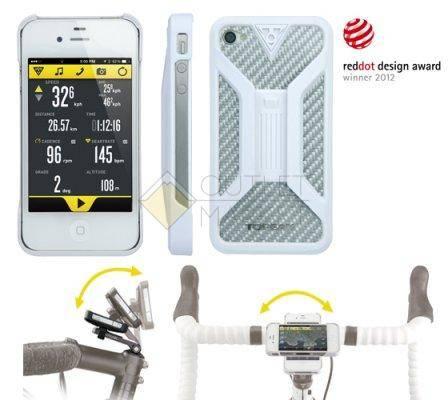 Бокс для телефона TOPEAK с креплением для iPhone 4 4S белый
