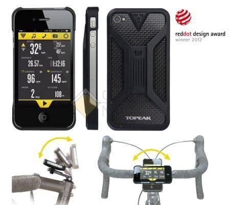 Бокс для телефона TOPEAK с креплением для iPhone 4 4S чёрный