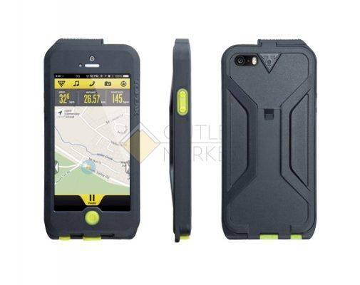 Бокс для телефона TOPEAK Водонепроницаемый с креплением для iPhone 5 чёрный зелёный